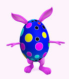 Easter bunny with walking pose Royalty Free Stock Photo