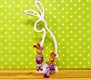 Easter Bunny, Wallpaper, Branch, Computer Wallpaper royalty free stock images