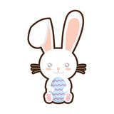 easter bunny whiskers hing egg adorable royalty free illustration