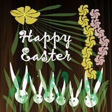 An Easter bunny white rabbit. Easter bunny white rabbit with a flowers Stock Photos