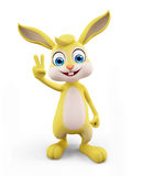 Easter Bunny with win pose Royalty Free Stock Photo