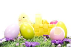 Easter bunny wishing you all a Happy Easter holiday! Royalty Free Stock Photography