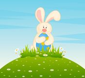 Easter Bunny With Colored Egg. Stock Photography