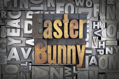 Easter Bunny. Written in vintage letterpress type Royalty Free Stock Photography