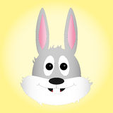 Easter bunny on yellow gradient background Stock Photography