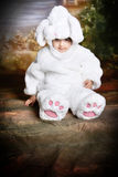 Easter bunny2. A two year old girl dressed as a bunny for easter Stock Photos