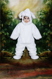 Easter bunny3. A two year old girl dressed as a bunny for easter Stock Photo