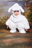 Easter bunny5. A two year old girl dressed as a bunny for easter Royalty Free Stock Photo