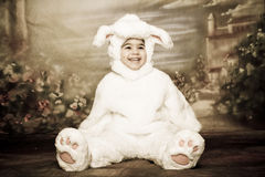 Easter bunny6. A two year old girl dressed as a bunny for easter Royalty Free Stock Images