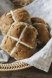 Easter buns in a basket Royalty Free Stock Photography