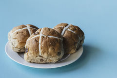 Easter buns on a plate Stock Image