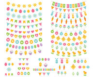 Easter bunting and decoration set Royalty Free Stock Images