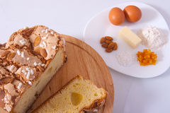 Easter cake. Traditional Italian dessert, eat during the Easter Stock Photos