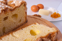 Easter cake. Traditional Italian dessert, eat during the Easter Stock Image