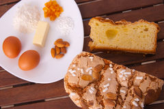 Easter cake. Traditional Italian dessert, eat during the Easter Stock Photography