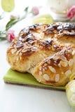 Easter cake with almond. Flakes Stock Photos