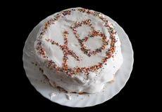 Easter cake on black Stock Image