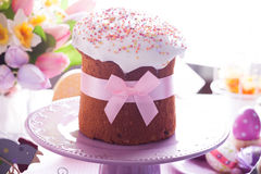 Easter cake with bow Stock Image
