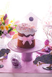 Easter cake with bow Stock Photos