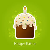 Easter cake with candle Royalty Free Stock Images