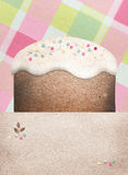 Easter cake on a checkered background Stock Photography