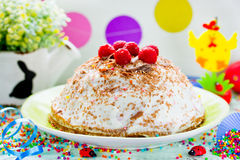 Easter cake with cottage cheese Stock Photos