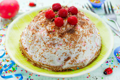 Easter cake with cottage cheese cream Stock Photography