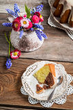 Easter cake and cup of coffee Stock Images