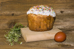 Easter cake and egg Royalty Free Stock Image