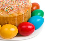 Easter cake with eggs Stock Photos