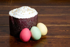 Easter cake with eggs Stock Images