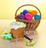 Easter cake, eggs, vanilla and cinnamon Stock Image