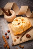 Easter cake with halloumi - Flaounes Stock Image