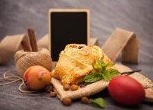 Easter cake with halloumi - Flaounes Royalty Free Stock Photos
