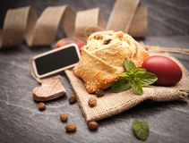 Easter cake with halloumi - Flaounes Royalty Free Stock Images