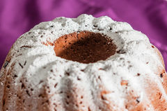 Easter cake with icing sugar and raisins Stock Photo