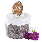 Easter cake isolated on white background Stock Photo