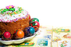 Easter cake kulich Royalty Free Stock Photo