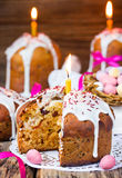Easter cake kulich. Traditional Russian Easter bread Royalty Free Stock Images