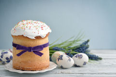 Easter cake on the plate Stock Photography