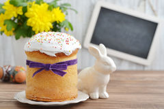 Easter cake on plate Stock Image