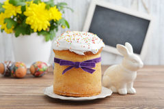 Easter cake on plate Stock Photos