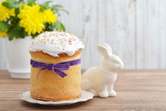 Easter cake on plate Stock Images