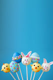 Easter cake pop background royalty free stock image