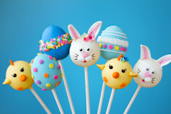 Easter cake pops. Cake pops with an Easter theme Stock Photos