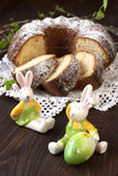 Easter cake with rabbit Royalty Free Stock Photography
