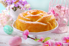 Easter cake in rose shape Royalty Free Stock Images