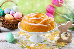 Easter cake in rose shape Stock Photo