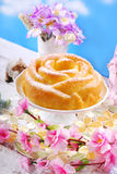 Easter cake in rose shape Royalty Free Stock Photos