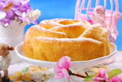 Easter cake in rose shape Stock Photography